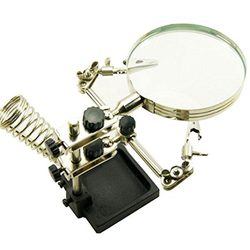 TU-1090T Magnifier with soldering clamp